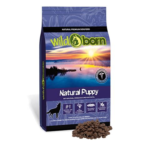 wildborn natural puppy mit huhn pangasius