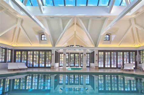 elegant private indoor glass mosaic swimming pool  atrium idesignarch interior design