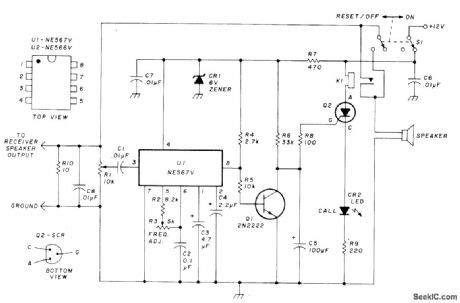 Control Tone Decoder Basic Circuit Diagram