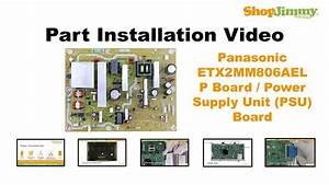Panasonic Plasma Tv Repair - Replacing  U0026 Installing Power Supply - How To Fix Plasma Tvs