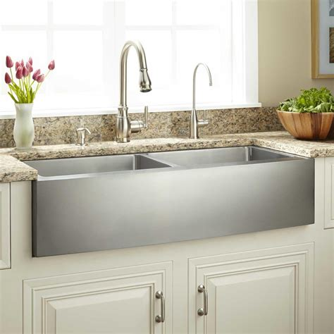 Black Stainless Steel Farmhouse Sink by 39 Quot Fournier Bowl Stainless Steel Farmhouse Sink