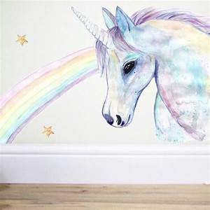 unicorn wall decalunicorn decorunicorn stickerhorse With unicorn wall decal