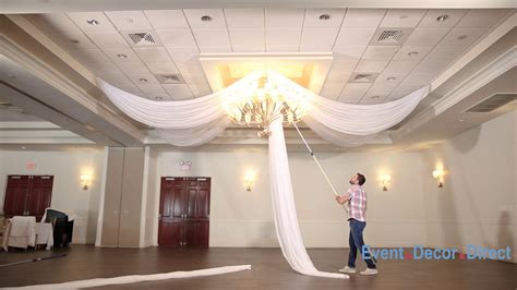 How To Hang Ceiling Drapes For Events - prefabricated ceiling drape kits