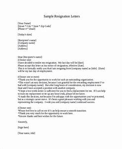 Sample Resignation Letter With 2 Week Notice 6 Examples Safasdasdas RESIGNATION LETTER EXAMPLE Samples Of Resignation Letters Resignation Letter Samples Download PDF DOC Format
