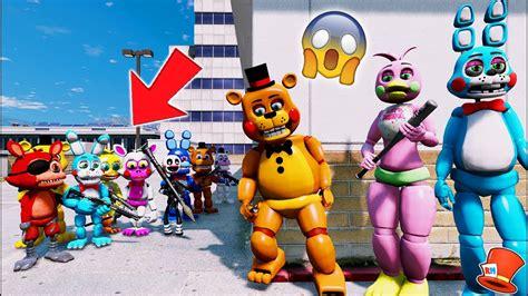 Who Will Win? Toy Animatronics Vs Fnaf World! (gta 5 Mods