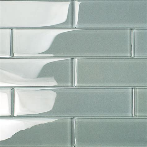 2x8 Glass Subway Tile by Shop For Loft Aspen Aura 2x8 Polished Glass Tiles At