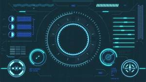 Futuristic User Interface With Hud Stock Footage Video  100  Royalty