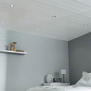 lambris pvc blanc mat pour plafond isolation idees With salle de bain design avec plafonds suspendus dalles décoratives