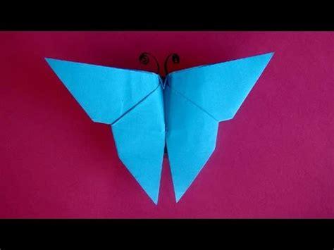 einfaches basteln mit kindern schmetterling basteln mit papier einfaches origami falten mit kindern