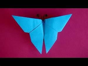 Origami Schmetterling Anleitung : schmetterling basteln mit papier einfaches origami falten mit kindern youtube ~ Frokenaadalensverden.com Haus und Dekorationen