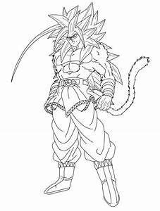 Goku Super Saiyan 5 Lineart by ChronoFz on DeviantArt