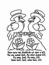 Rhymes Poems Blackbird Blackbirds sketch template