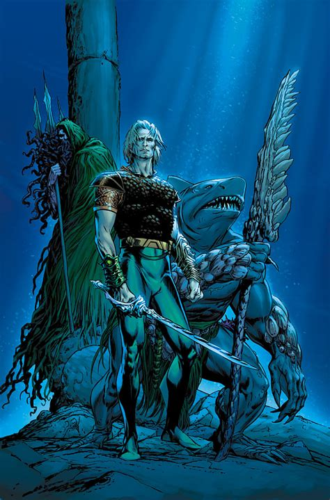 arthur curry aquaman dc joseph comics atlantis carlos pacheco earth comic sword 2006 future once october favorite futures end wikia