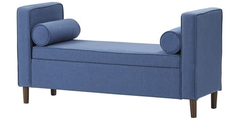 Storage Settee by Classic Settee With Storage In Blue Colour Dreamzz