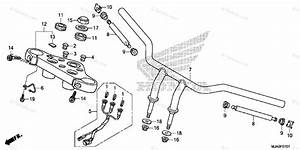 Honda Motorcycle 2016 Oem Parts Diagram For Handlebar  2