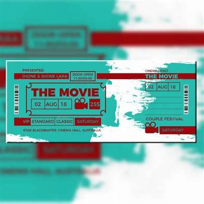 Ticket Invitation Template Templates Event Card