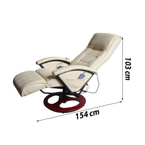 si鑒e massant articoli per poltrona relax massaggio lusso isa reclinabile crema vidaxl it