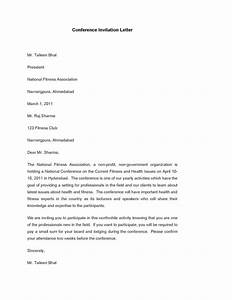 Conference Invitation Letter Template