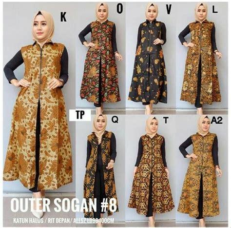 jual baju batik muslim baju muslim terbaru outer batik sogan gamis favorit di lapak