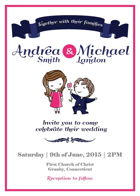 FreeDownload Wedding Invitation Template Easy to