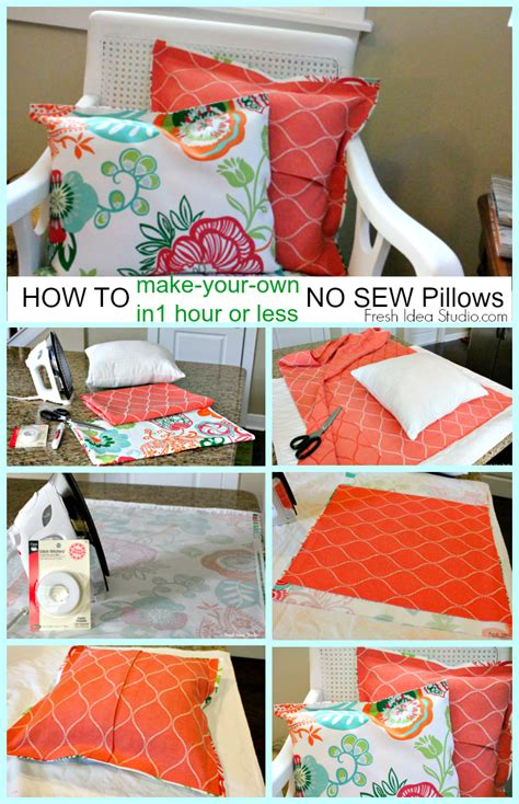 how to make a cushion how to make a easy no sew pillow cover