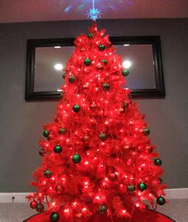 lipstick red artificial christmas tree treetopia
