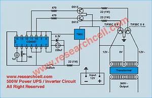 Circuit Diagram  500w 12v To 230v Inverter Circuit Diagram