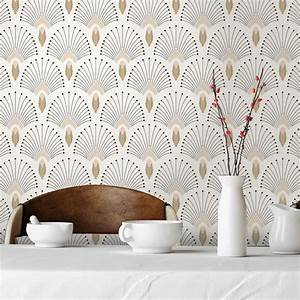 Papier Peint Photo : papier peint intiss en rouleau 1925 beige effet dor s ~ Melissatoandfro.com Idées de Décoration