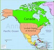 North America Map | Political map of North America with ...