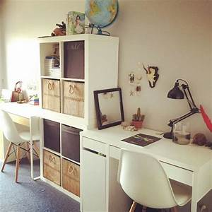 Bureau Chambre Fille : coin bureau pour chambre double d 39 enfant allures scandinaves une fois de plus avec les chaises ~ Teatrodelosmanantiales.com Idées de Décoration