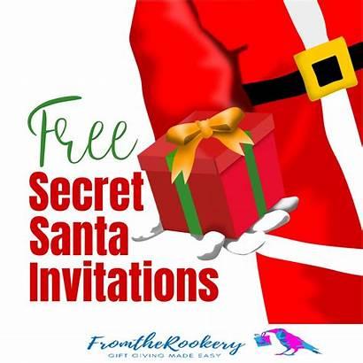 Secret Santa Invitations Printable Exchange Gift Party