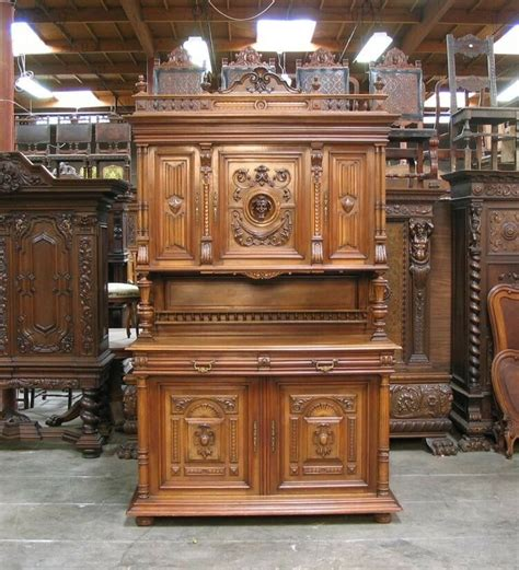 Hutch Sideboard Buffet by 1107001 1 Large Antique Renaissance Wlanut Buffet
