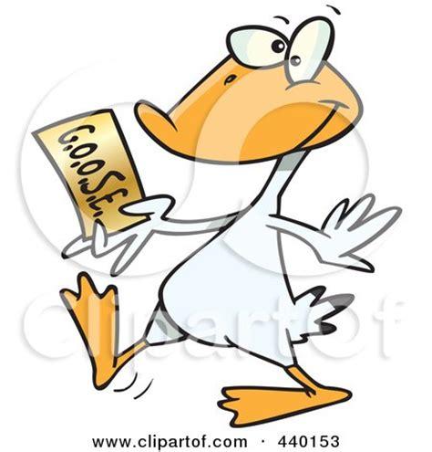 royalty  rf clip art illustration   cartoon goose