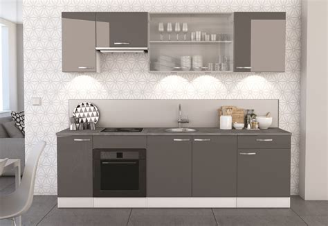 駘駑ent bas cuisine meuble bas de cuisine contemporain 2 portes blanc mat gris