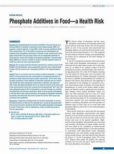 Phosphate Additives In Food  27 01 2012