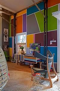 peinture murale pour une ambiance dinterieur gaie With types de peintures murales