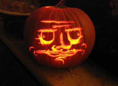 Meme Pumpkin Carving - me gourdsta pumpkin carving art know your meme