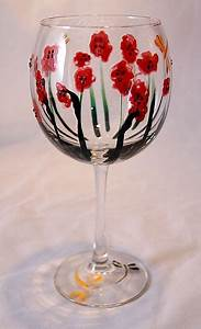 Abstract Poppies Red Wine Glass | Wine glass, Red poppies ...