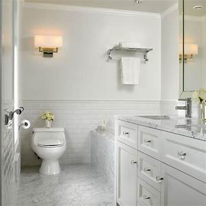 White Marble Bathroom - Traditional - Bathroom - other