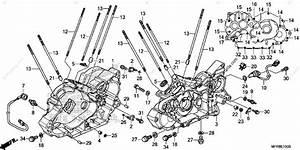 Honda Motorcycle 2014 Oem Parts Diagram For Crankcase
