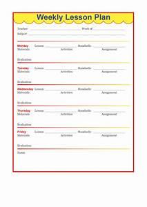 Lesson Plan Pdf Template Fillable Preschool Weekly Lesson Plan Template Printable