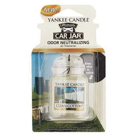 yankee candle clean cotton car jar ultimate odorizant auto