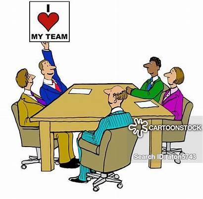 Team Manager Management Cartoon Cartoons Funny Meeting