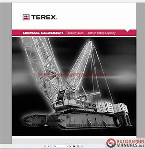 Terex Mobile And Crawler Crane Full Set Shop Manual Dvd