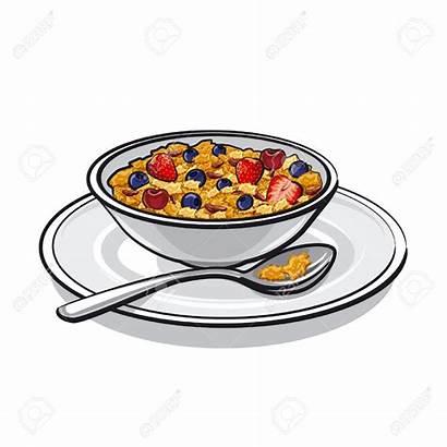 Muesli Breakfast Cereal Clipart Bowl Cliparts Cartoon