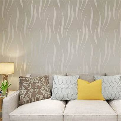 Living 3d Wallpapers Wall Embossed Siver 10m