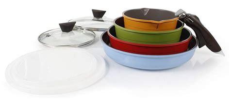 stackable pots  pans   slice  kitchen