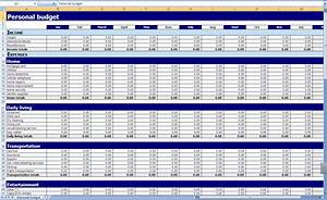monthly and yearly budget spreadsheet excel template With annual household budget template