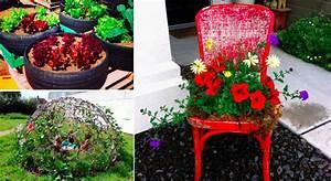Creation Avec Des Pots De Fleurs : 45 fa ons de d tourner des objets pour d corer son jardin ~ Melissatoandfro.com Idées de Décoration