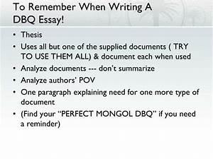 dbq essay template